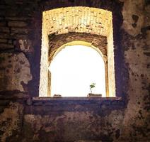 Old window during the day photo