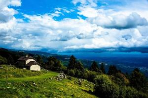 Hut and clouds photo