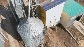 grain storage hangars aerial survey video