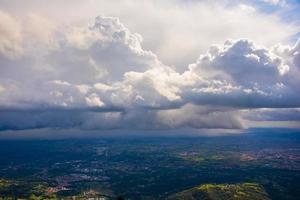 Dramatic white clouds photo