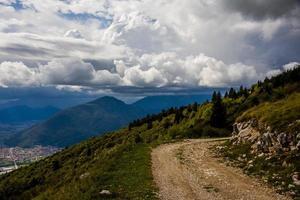 Path on a mountain photo