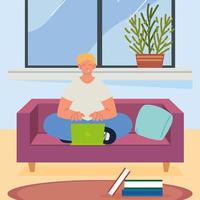 freelance working remotely vector