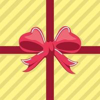 gift box bow vector