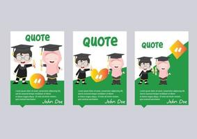 graduation kids template card with quote vector