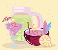 cocktail lemonade beverage vector