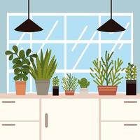 home plants table vector