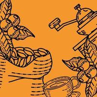 coffee grinder sketch vector