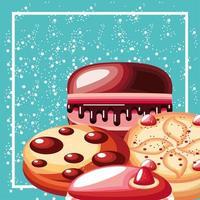 dessert pastries food vector