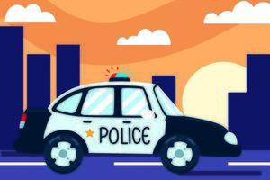 transport police car vector