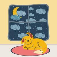 dog room night vector