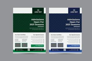 Admission Open Education Flyer Template vector