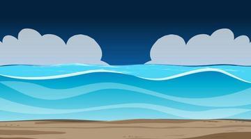Blank sky at night scene with blank flood landscape vector