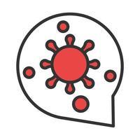 coronavirus covid19 diagnostics research virus disease pneumonia respiratory line and fill vector