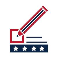 United States elections pencil marker list ballot political election campaign flat icon design vector