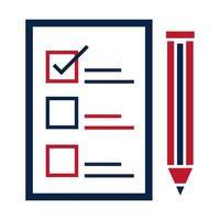elecciones de estados unidos lista de candidatos para seleccionar el diseño de icono plano de la campaña electoral política vector