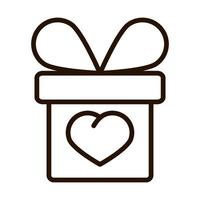 gift box heart give charity donation and love line icon vector