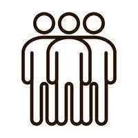 trabajo en equipo, solidaridad, comunidad, y, asociación, línea, icono vector