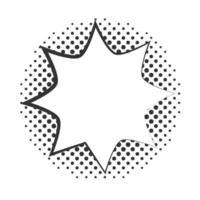 pop art blast speech bubble halftone style linear design white background vector