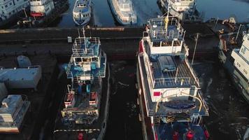 Ships in a Dock Yard video