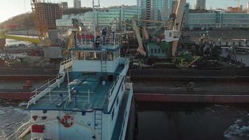 Panning Shot of A Ships Deck video