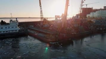 Boats in A Ship Dock Yard video