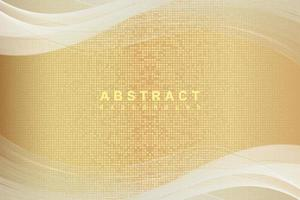 Elegant abstract gold background with shiny elements cream shade vector