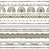 Abstract seamless Brown white a repeat endless pattern Ovals semicircles rainbows lines dots circles and other shapes vector