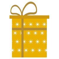 Surprise Gift box Flat style vector illustration