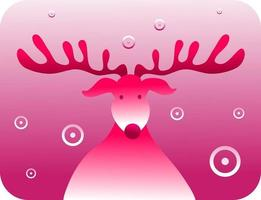 The Red Nosed Reindeer vector