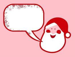 Festive Santa Claus Message vector