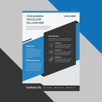 Corporate Business Flyer poster brochure cover design layout free vector template in A4 size