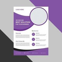 Business abstract purple flyer template. brochure design, cover modern layout, annual report, poster, flyer in A4 free vector design