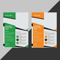 Business brochure flyer design a4 template free vector design