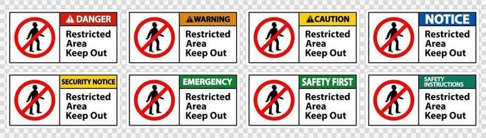 Restricted Area Keep Out Symbol Sign Isolate on transparent Background,Vector Illustration vector