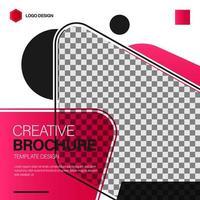 Square brochure template design vector