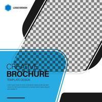 Creative brochure template design concept vector