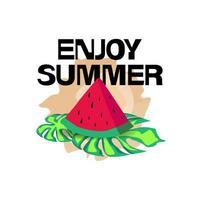Enjoy summer illustration design vector isolated on white background