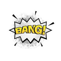 Bang bubble comic design vector isolated on white background