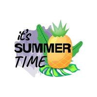 It's summer time illustration design isolated on white background vector