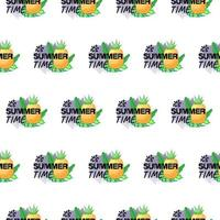It's summer time seamless pattern design vector