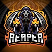Reaper esport mascot logo design vector