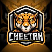 Cheetah esport mascot logo design vector