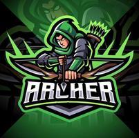 diseño de logotipo de mascota archer esport vector