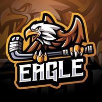 Eagle sport esport mascot logo design vector