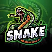Snake esport mascot logo design vector