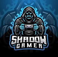 Shadow gamer esport mascot logo design vector