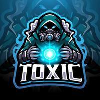 logotipo de la mascota de esport de gas tóxico vector