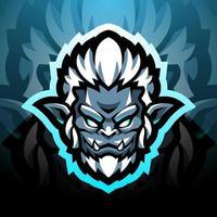 Yeti head esport mascot logo design vector