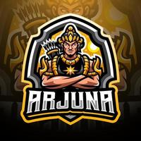 Arjuna esport mascot logo design vector