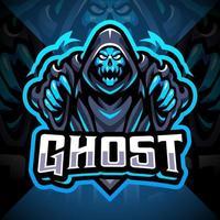 diseño de logotipo de mascota fantasma esport vector